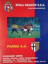 Programma UEFA CUP 2002/03 Wisla Cracovia-PARMA A.C.