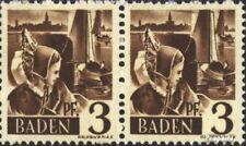 Franz. Zone-Baden 2III, bredere Gekleurde boog over de Hoofd (Veld 66) postfris