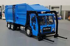 1/64 MACK LR BLUE FRONT LOADING RUBBISH TRUCK ON CARD GREENLIGHT AUS FREE POST