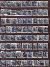 "1880 Newfoundland Canada ""Queen Victoria"" 3 ¢ Blue USED 72 Stamps Fine!!"
