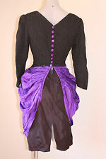 VINTAGE DRAPED SWAG SILKY BUTTON BACK COCKTAIL PARTY DRESS 12