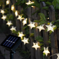 Solar String Lights Star Fairy Waterproof Starry Lamp Outdoor Party Stage Decor