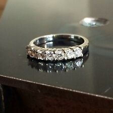 Platinum Round Brilliant Cut Diamond Band