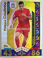 Match Attax 2016/17 Premier League - LE2 Gold Philippe Coutinho - Limited Editio