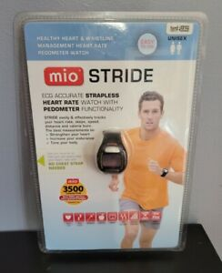 New MIO Stride ECG Accurate Heart Rate Monitor Built in Pedometer Sport Watch