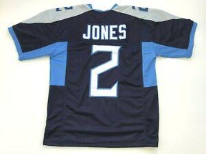 UNSIGNED CUSTOM Sewn Stitched Julio Jones Blue Jersey  M, L, XL, 2XL