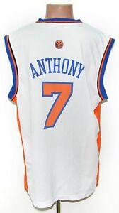 NBA NEW YORK KNICKS BASKETBALL SHIRT JERSEY #7 ANTHONY ADIDAS SIZE L ADULT
