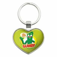 Gumby Logo Here Comes the Fun Heart Love Metal Keychain Key Chain Ring