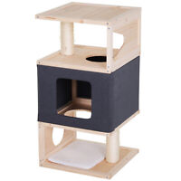 Multi-Level Cat Tree Kitty Activity Center Large Perch w/ Sisal-Covered