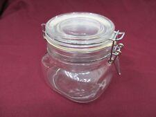 Small Glass Storage Jar with Metal Clip Closure