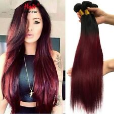 300g Brazilian Virgin Human ombre straight hair 18inches uk