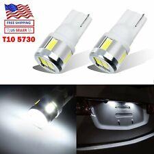 2pcs T10 LED License Plate Light Car Interior Map Bulbs White 168 2825 194 W5W