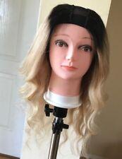100% Human Virgin Brazilian Bodywave Custom U-part Wig Blonde Ombre