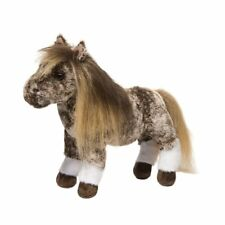 "Gypsy Douglas Dappled Shetland Pony 11"" stuffed horse brown plush toy animal"