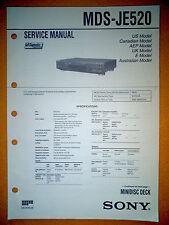 Sony MDS-JE520 Service Manual (original) Used
