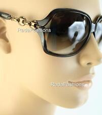 Gucci Havana Chocolate Bronze Chain Link Women's Sunglasses 3584/S Authentic