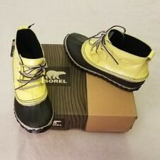 Sorel Womens Rain Boots 6 Yellow Out N About Zest Dove New in Box #NL2511-731