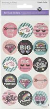 Multicraft Celebration Seals Stickers 2/Sheets-Friends Forever W/Foil Accents