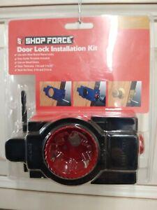 SHOP FORCE Door Lock Installation Kit