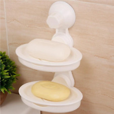 Double Layer Plastic Soap Suction Holder For Kitchen & Bathroom (Max Load 5kg)