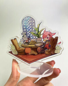 Final Fantasy XV FF14 G'raha Tia The Crystal Exarch Desk Stand Display Acrylic N