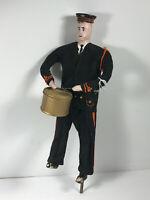 "Vintage 16"" Folk Art Drummer Musician Figure Statue composition Kansas"