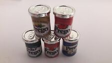 5 Pcs Dollhouse Miniatures Food & Groceries Supply Handcrafted Prego Canned Food