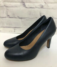 Clarks Artisan Blue Leather Womens Leather Pumps Heels Comfort Shoes Size 8.5