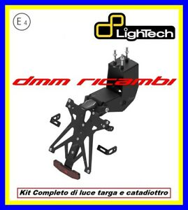 Portatarga LighTech APRILIA DORSODURO 900 19 supporto con luce targa led 2019