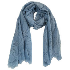 Baby Blue Lace Scarf