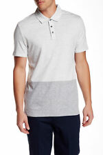 VINCE Men's Colorblock Short Sleeve Grey Polo Shirt -Sz L