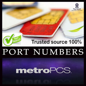 METRO PCS Numbers for Port | Numbers to Port METRO | 7 days validity | 1-24 hrs