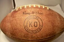 Vintage King-O' Shea Ko Official Intercollegiate Leather Football Holds Air