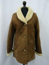 Women's Vintage Sheepskin Shearling Coat Size 12 Dry Cleaned
