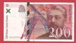Billet de 200 francs Gustave EIFFEL 1996 FRANCE