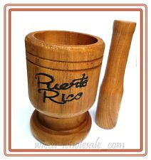Puerto Rico Wood Mortar & Pestle Pylon Pilon Madera - Boricua Rican Mofongo
