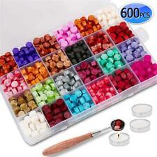 600Pcs Sealing Wax Beads Kit For Seal Stamp Document Wedding Envelope Card Gifts