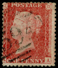 SG40, 1d rose-red PLATE 63, LC14, FINE USED. Cat £50.