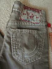 NWT True religion mens bobby super t coated jeans in Ted Taupe