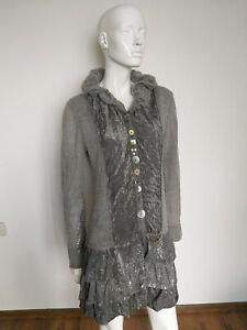 ELISA CAVALETTI women's knit/jacket wool grey size XL
