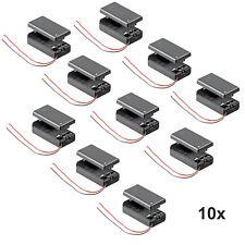 10x Batteriehalter für 9 V-Block Akkuhalter Batteriefach mit Schalter Ein Aus