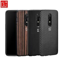 For Oneplus 7 Pro 6T Original official Back Case Ebony Wood/Karbon Shell Cover