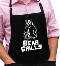 Bear Grills Funny Novelty Apron Gift for Dad, Husband, Father's Day Grandpa