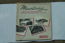 Old Vintage Mustang Parts & Upholstery Catalog 1965 - 1973 Larry's Fullerton CA