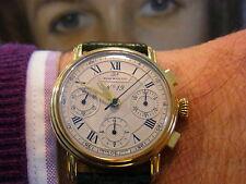 GOLD UHR 750 18k. RENE MARCHAL Chronograph Automatic XXL BILDER