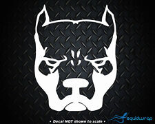 "Pitbull Head Dog Car Decal / Laptop Sticker - WHITE 6"""