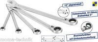 HAZET 606/5 Maulschlüssel Knarren Ring Schlüssel 5 teilig Knarrenfunktion  NEU