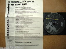 MICHAEL JACKSON IS MY LABELMATE - V.A. Promo-CD & Info - Die Hexen * Smiles In B