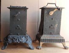 LOT Tourne broche cheminée type capucin mouvement mécanique époque 19eme paire