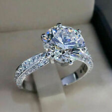 6.50 Ct Lab-created Diamond Round Cut 14K White Gold Engagement Ring